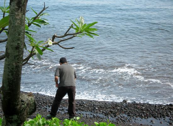 Spa Village Resort Tembok Bali: The black sand beach