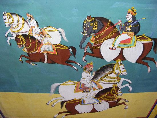 Dungarpur, India: Just a tiny shot of the heritage wall paintings