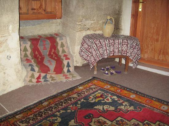 Monastery Cave Hotel: the carpets in our room