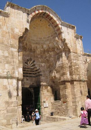 Jerusalem, Israel: Wonderful Mamluke architcture as you leave the Temple Mount