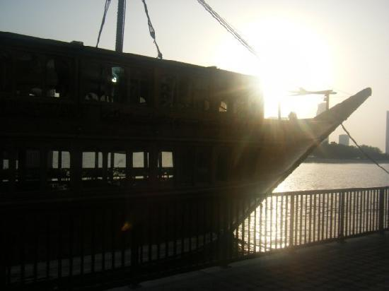 Al Salam Inn Hotel Suites: Buheira Corniche (the bay) a lovely boat restaurant