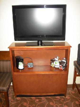 Hampton Inn and Suites Cleveland Southeast Streetsboro: Flatc screen HD TV