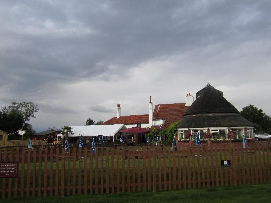 Acle Bridge Inn: view from the boat