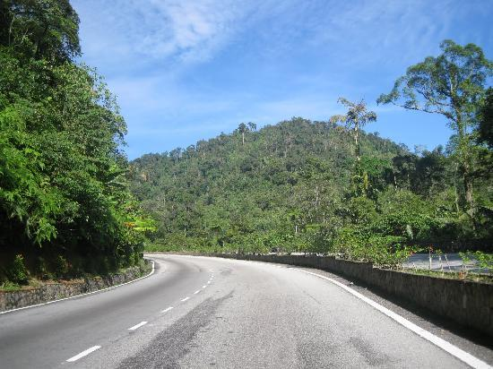 Genting Highlands, Malasia: The approach towards the Park from KL