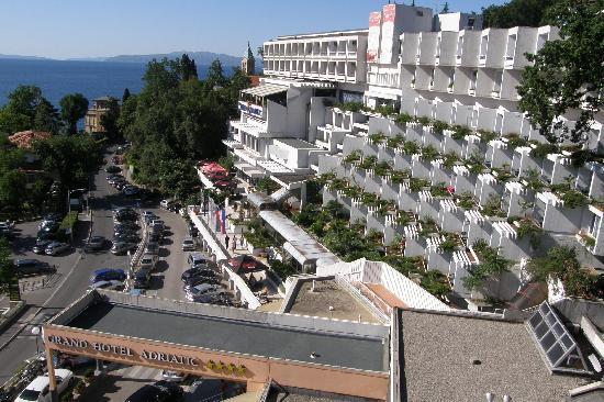 Grand Hotel Adriatic: Вид из окна
