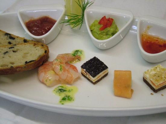Restaurant St. Erhard im Kolpinghaus: Vorspeise, das Bild ist leider verwackelt