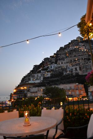 Hotel Buca di Bacco: View from the terrace where you can eat or have a drink