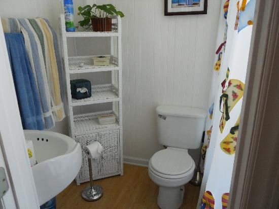 Lighthouse Inn Bed & Breakfast: Cape May bathroom - clean and bright!