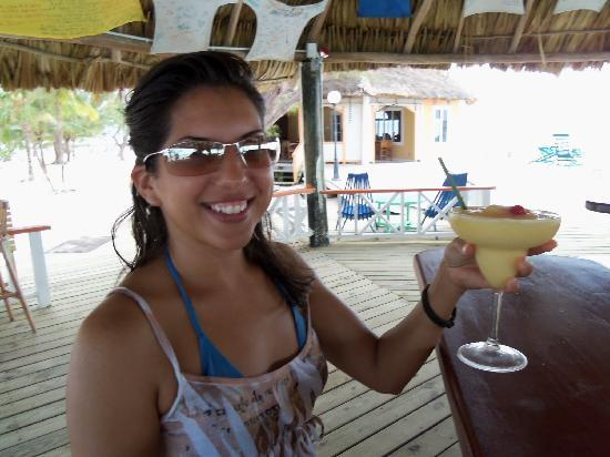 Coco Plum Island Resort: Me enjoying George's creation