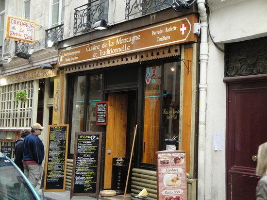 Cuisine de La Montagneet Traditionelle : fachada del restaurante