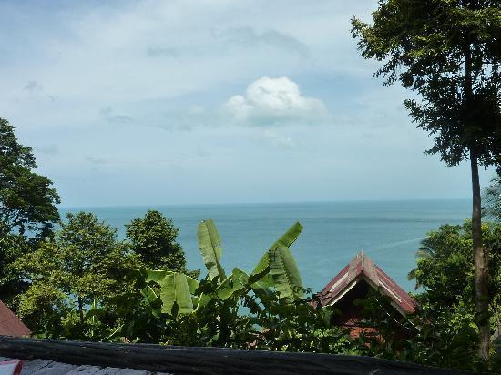 Seaview Bungalows Thansadet: Blick von der Restaurant-Terrasse