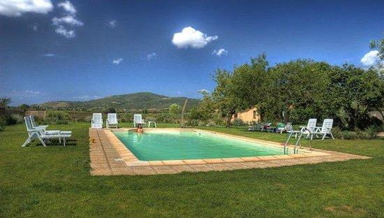 Capalbio, Italia: giardino,piscina