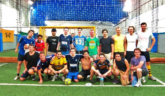 FC BAFA (Buenos Aires Futbol Amigos): BAFA Weekend Players, stopping in between games for a photo.