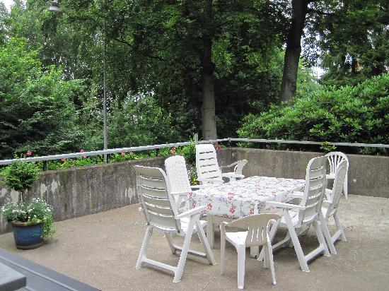 Villa Balder Bed & Breakfast : The shared patio