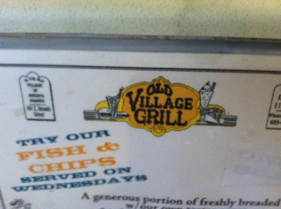 Old Village Grill : Cozy eatery