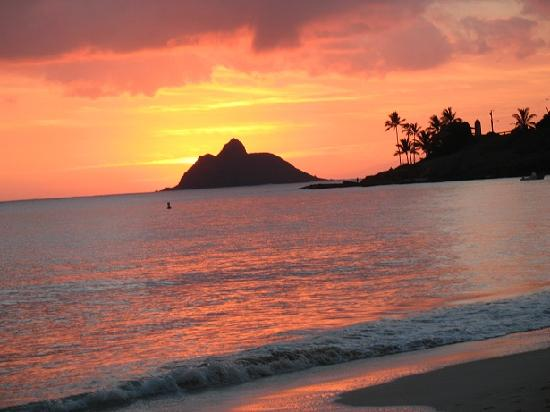 Papaya Paradise Bed and Breakfast: Kailua Beach sunrise.