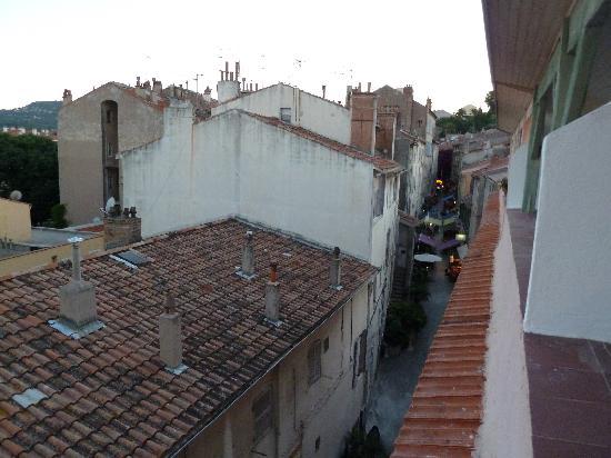 Hotel du Portalet : Blick von der Terasse