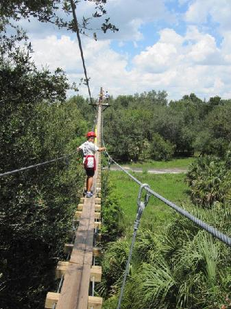 Zip Orlando: Creaky Plank Foot Bridge