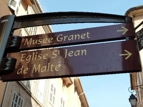 Musée Granet : Wegweiser