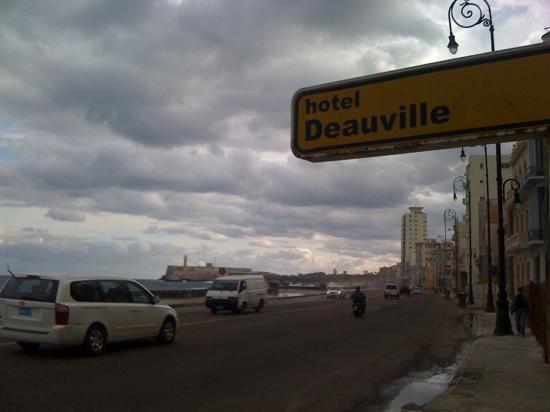 outside hotel Deauville