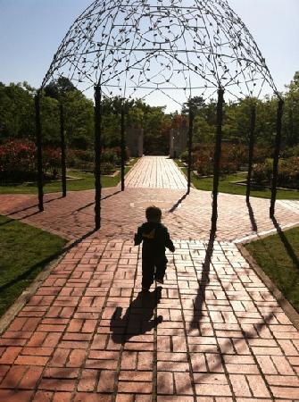 Birmingham Botanical Gardens: My 13 month son Owen in the Rose Gardens in April 2011.