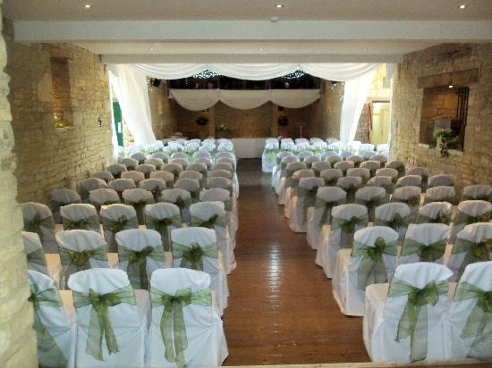 The Great Tythe Barn Venue Set Up For Our Ceremony