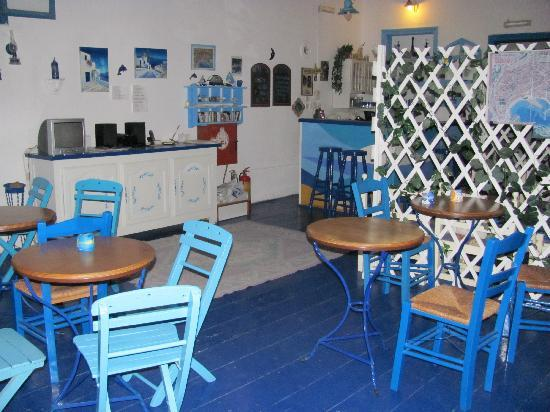 Evdokia Hotel: la salle du petit déjeuner / lobby