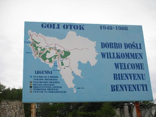 Ankunft auf Goli Otok