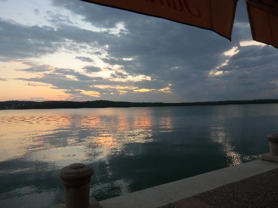 Blick vom Restaurant Zal auf das Meer