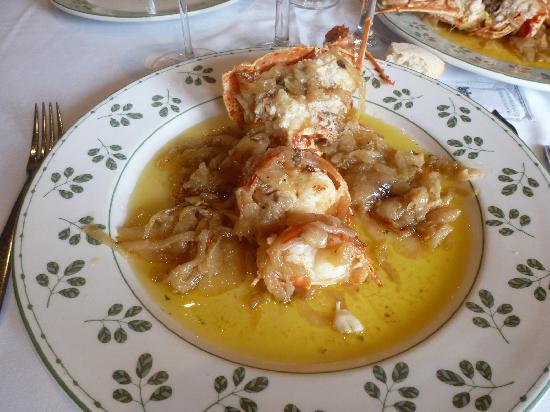 Cafe Balear : Langosta con cebolla