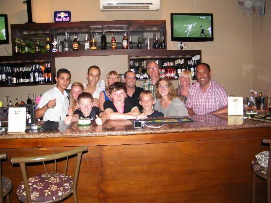 Bar1 : Jonny, the fantastic bar staff, and us
