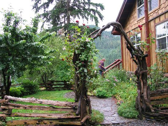 Double Diamond Lodge Bed and Breakfast: The walk to the entry