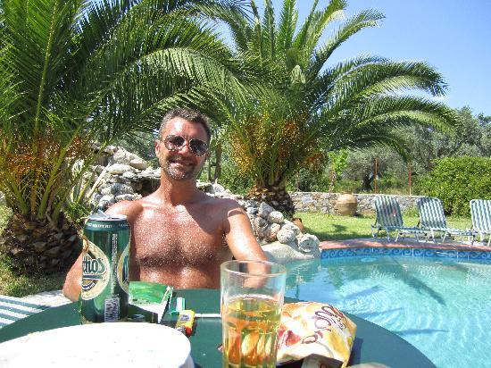 Ageri Studios: Me in the garden/pool area