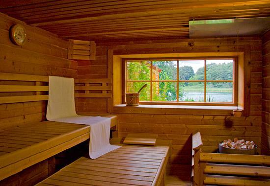Romantischer Seegasthof & Hotel Altes Zollhaus: Sauna mit Seeblick