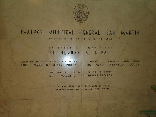 Teatro Municipal General San Martin: Entrada