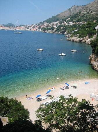 Hotel Bellevue Dubrovnik : The secret beach we found (check out Rick Steves tour book for information)