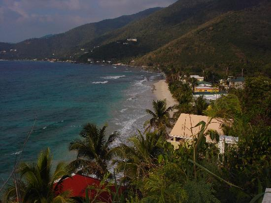 Tortola : View of the Sebastian's on the Beach Hotel