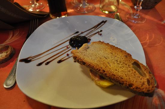 Auberge de Mirandol: Le foie gras caché par le pain!