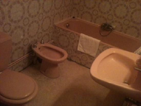 Hotel Mondial: baño, hortera pero limpio
