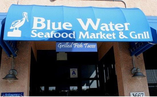 Blue Water Front Door