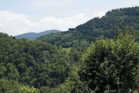 Gites Marcerou : Panorama vu de la terrasse