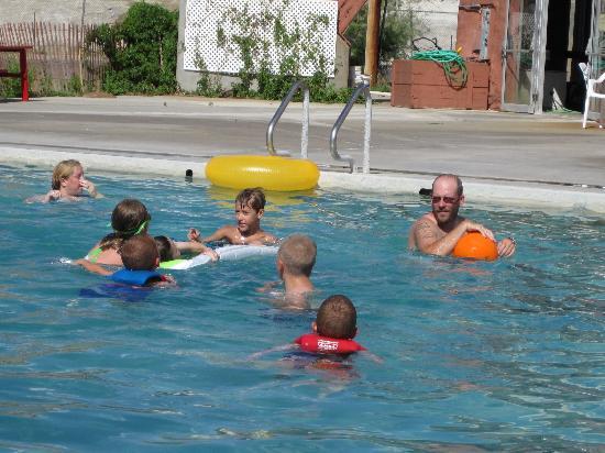 TePee Pools and Spa: Outside pool, Hellie's TeePee Pools