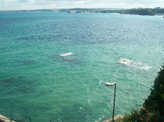 Hendra Holiday Park: view down to the sea