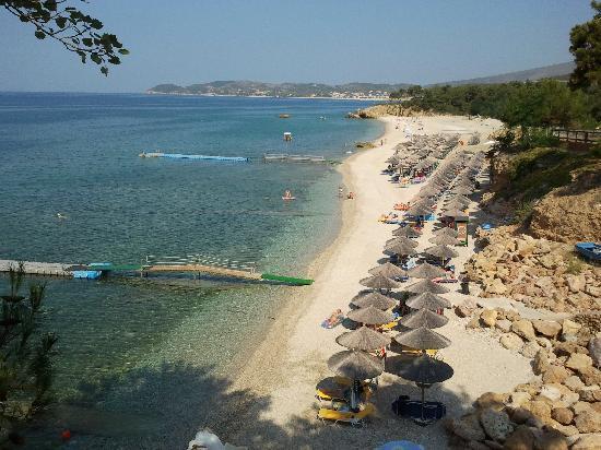 Alexandra Beach Thassos Spa Resort: Hotel Beach - free sunbeds