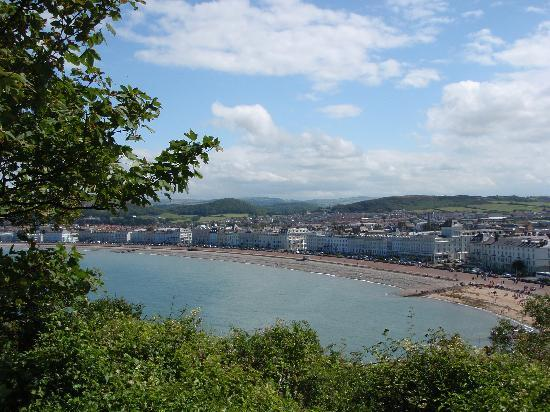 Can-y-Bae: View of Llandudno & promenade from the Observatory, a steep but worthwhile walk on the lower par
