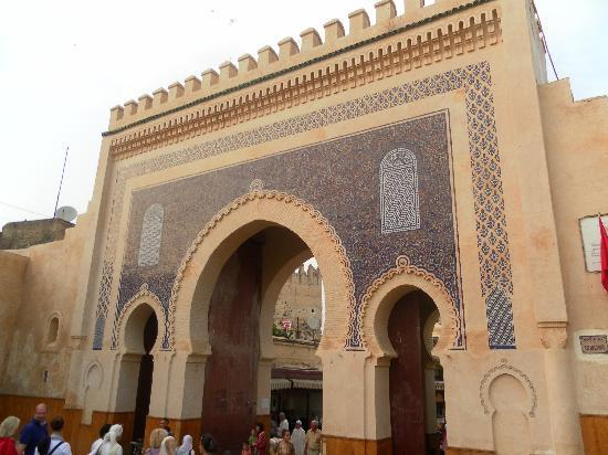 Dar Warda: The blue gate. One of the beautiful enterances to the Medina.
