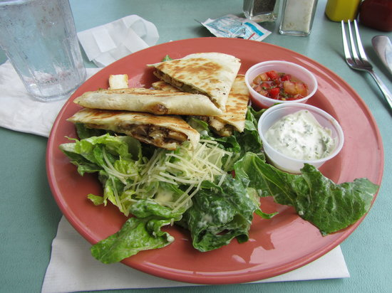 Breezes Bistro ~ Tropical Grill & Rhum Deck: Jerk Chicken Quesidillas
