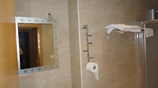 La Milagrosa Bed & Breakfast: El papel higiénico colgado de cualquier parte, la luz del espejo ? falta