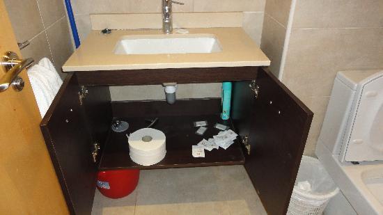 La Milagrosa Bed & Breakfast: Los shampoo y jabones los descubrimos tirados pajo el lavabo !