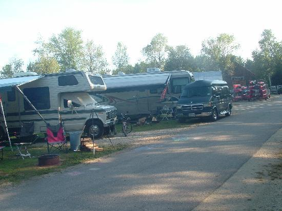 Eastern Slope Camping Area: Not enough room to park your vehicle on your site!